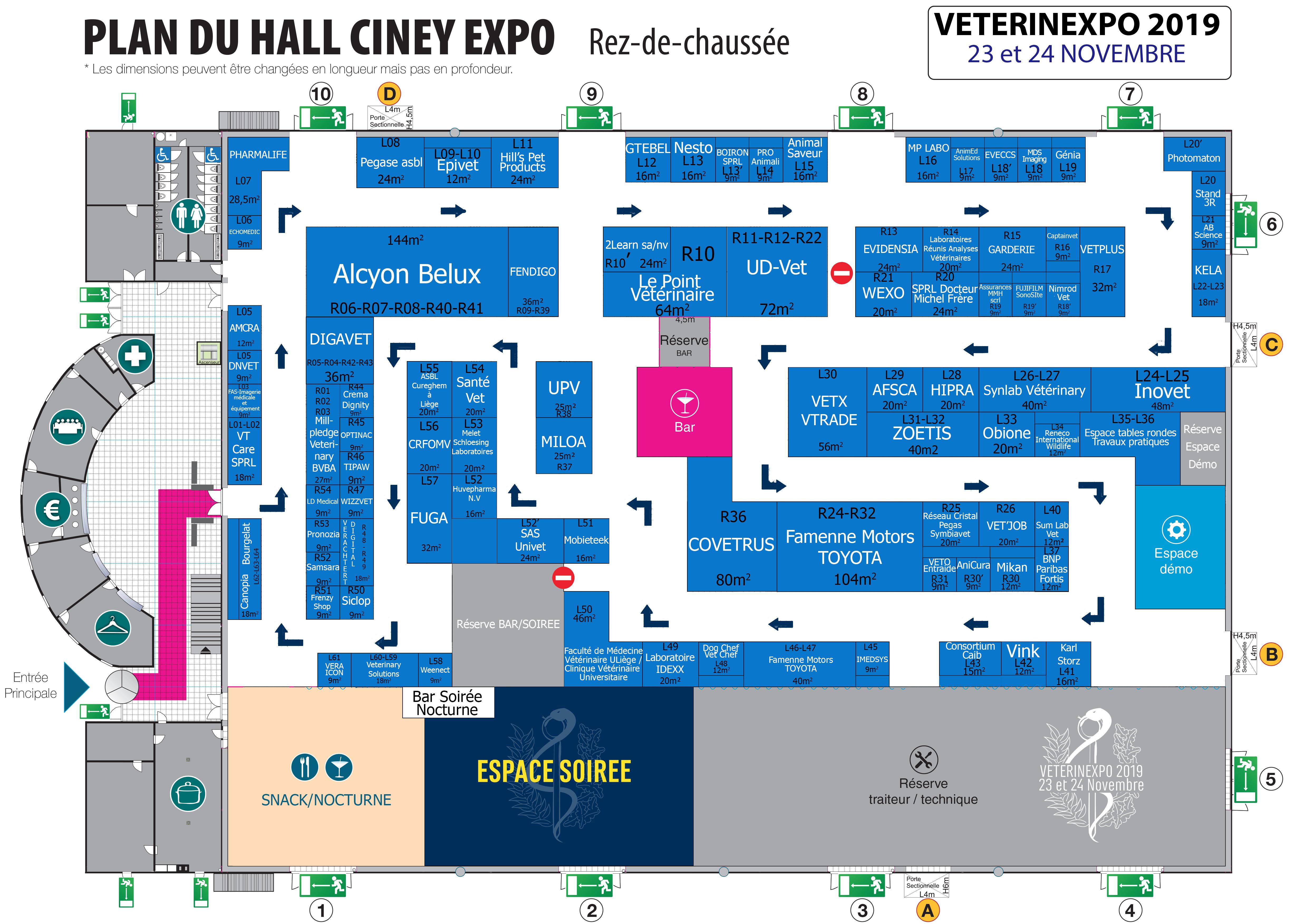 Plan du salon VétérinExpo